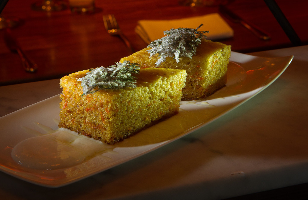 The Carrot Cake at Chambers Eat + Drink restaurant in San Francisco, Calif., is seen on August 30th, 2011.