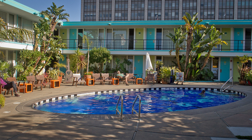 The pool area outside of Chambers Eat + Drink restaurant in San Francisco, Calif., is seen on August 30th, 2011.