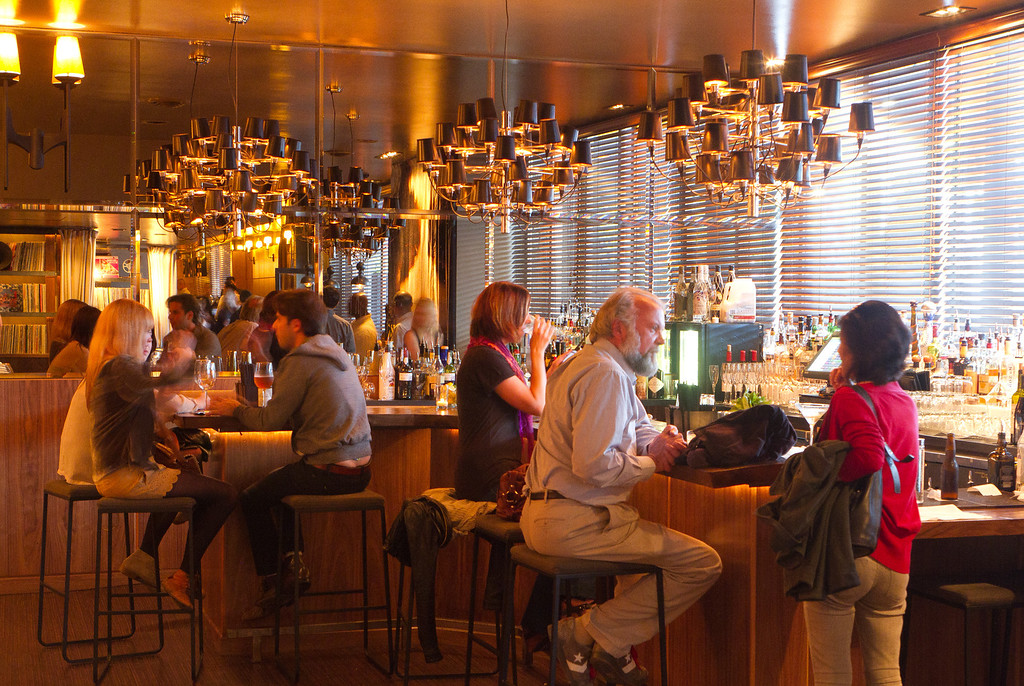 The front bar at Chambers Eat + Drink restaurant in San Francisco, Calif., is seen on August 30th, 2011.