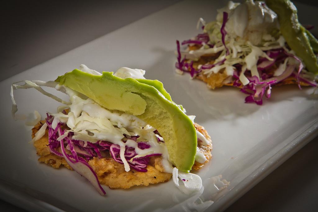 The Chicharron Masa Cakes at Cielito Lindo Restaurant in Napa, Calif.,  is seen on Saturday, November 4,  2011.