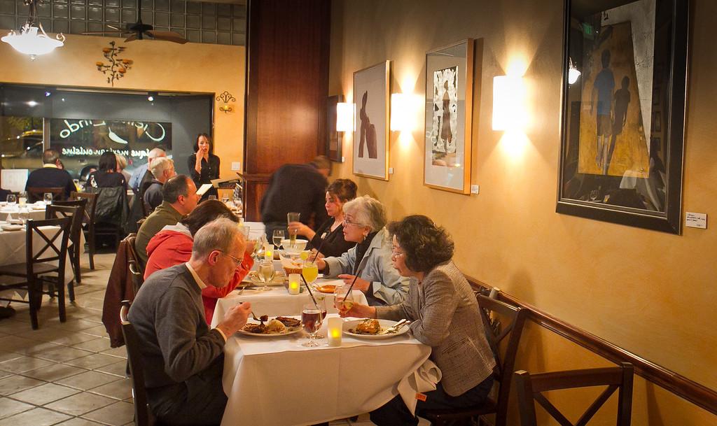 Diners enjoy dinner at Cielito Lindo Restaurant in Napa, Calif., on Saturday, November 4,  2011.
