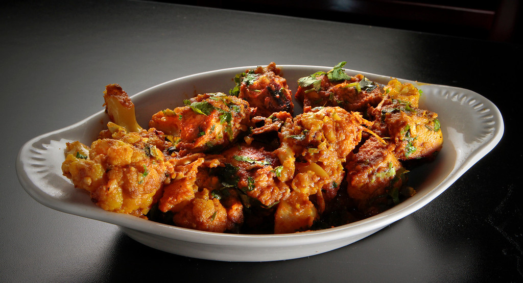 The Chicken Gobi at Curry Boyzz Restaurant In San Francisco, Calif.,  is seen on June 29th, 2011.