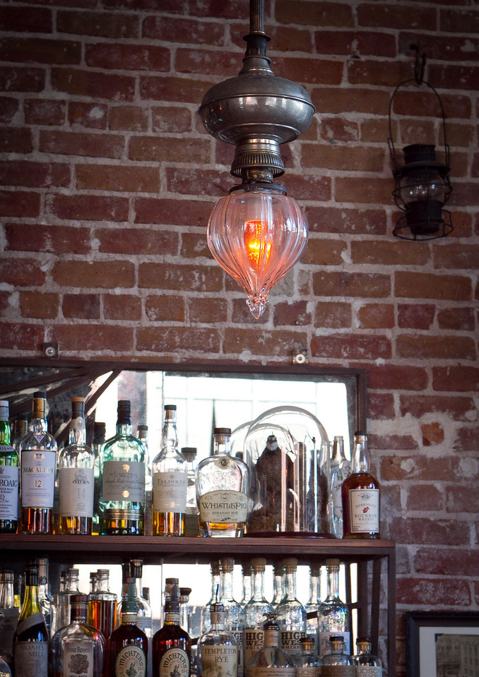 The light fixtures at the Dogwood Bar in Oakland, Calif., is seen on Friday,  September 30th, 2011.