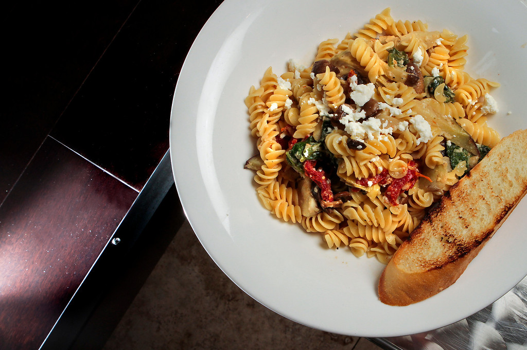 The Mediterranean Rotini pasta at the Due Drop In Restaurant in San Francisco, Calif. is seen on June 4th, 2011.