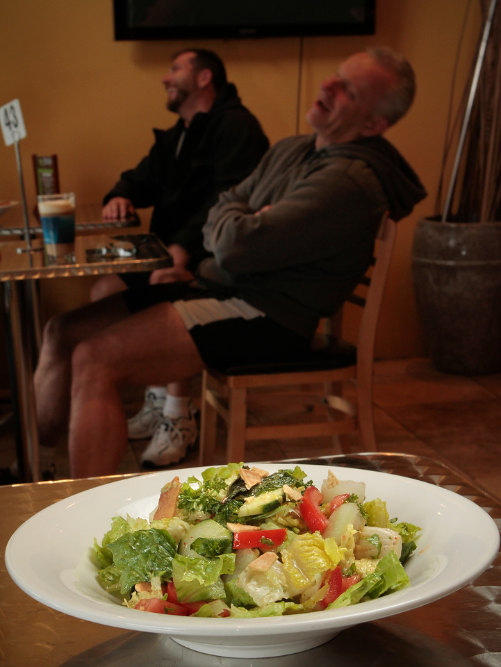 The Fattoush Salad at the Due Drop In Restaurant in San Francisco, Calif. is seen on June 4th, 2011.