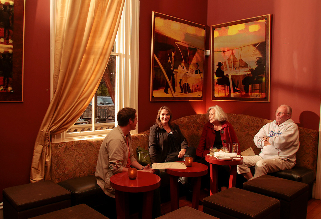 The bar at Estate restaurant in Sonoma, Calif., is seen on Friday, Nov. 5, 2010.