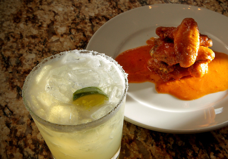 The Farmstead Margarita with the spicy Chicken Wings at the Farmstead restaurant in St. Helena, Calif., is seen on Saturday, May 28th, 2011.