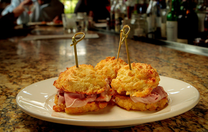 The Cured Ham Sandwiches at the Farmstead restaurant in St. Helena, Calif., is seen on Saturday, May 28th, 2011.