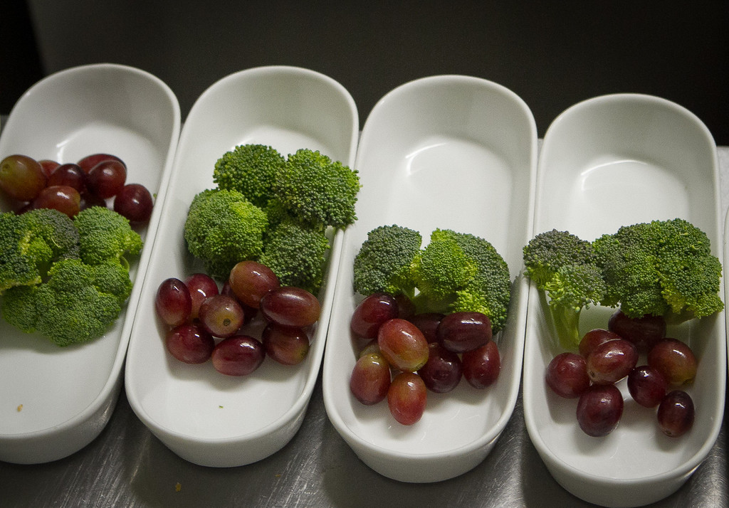 Broccoli and grapes being readied for the savory fondue at  Fondue Cowboy in San Francisco, Calif., on Thursday, November 10,  2011.