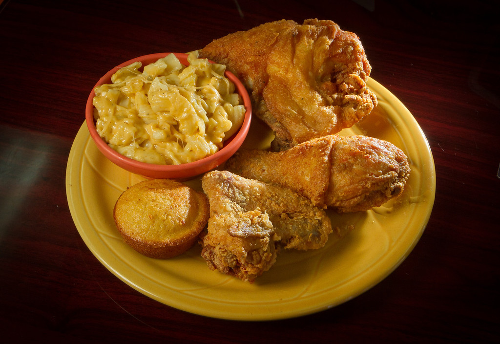 The fried Chicken dinner with a side of Mac & Cheese at Frisco Fried restaurant in San Francisco, Calif., is seen on Monday, August 29th,  2011.