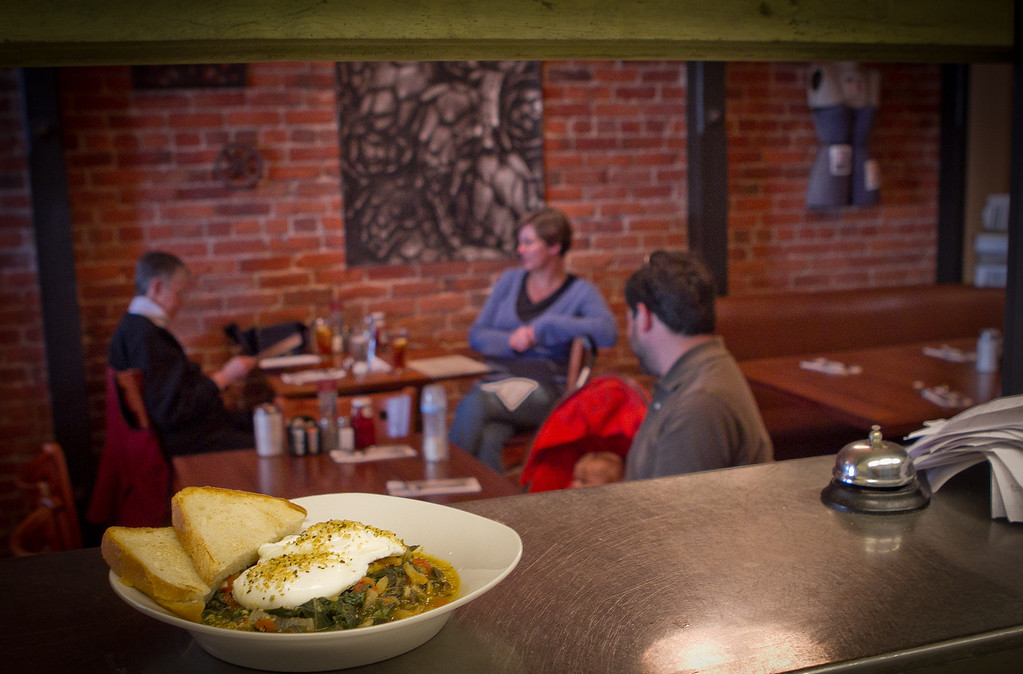 "The ""Sebastobowl"" at the Gypsy Cafe in Sebastopol, Calif.,  is seen on Thursday, December 1st,  2011."