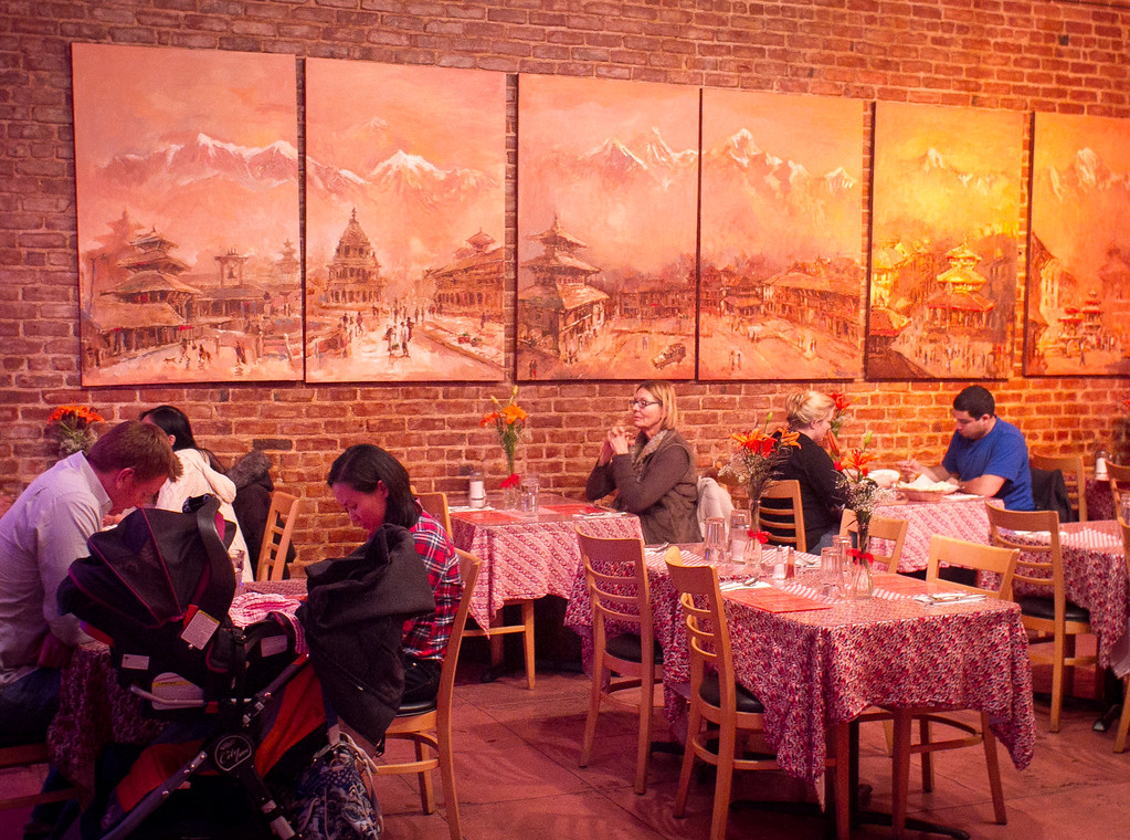 Diners enjoy dinner at Hamro Aangan Restaurant in Albany, Calif.,  is seen on Tuesday, November 8,  2011.
