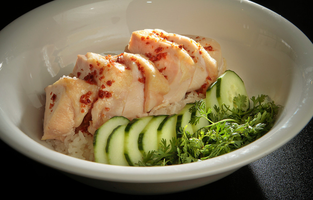 "The ""Kao Mun Gai"", poached chicken at Hawker Fare restaurant in Oakland, Calif., is seen on July11th, 2011."