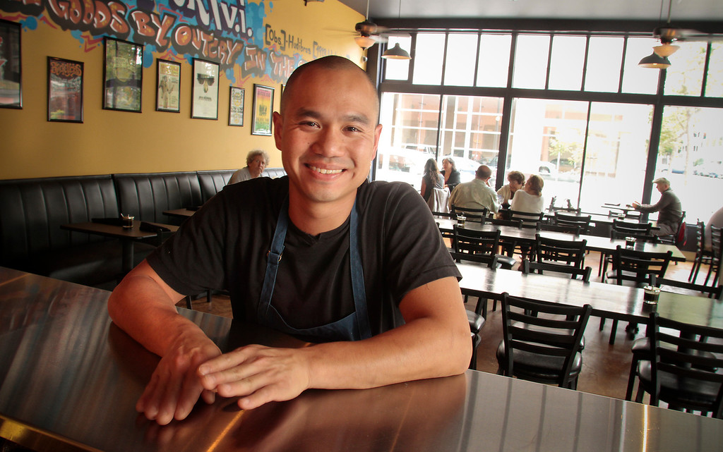 Chef James Syhabout at Hawker Fare restaurant in Oakland, Calif., is seen on July11th, 2011.