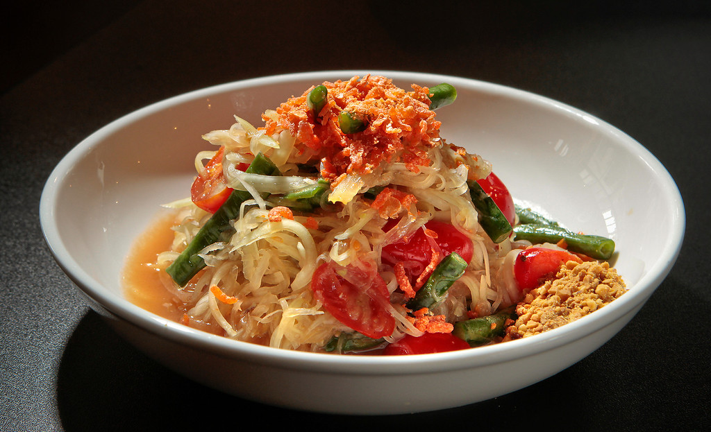 The Green Papaya Salad at Hawker Fare restaurant in Oakland, Calif., is seen on July11th, 2011.