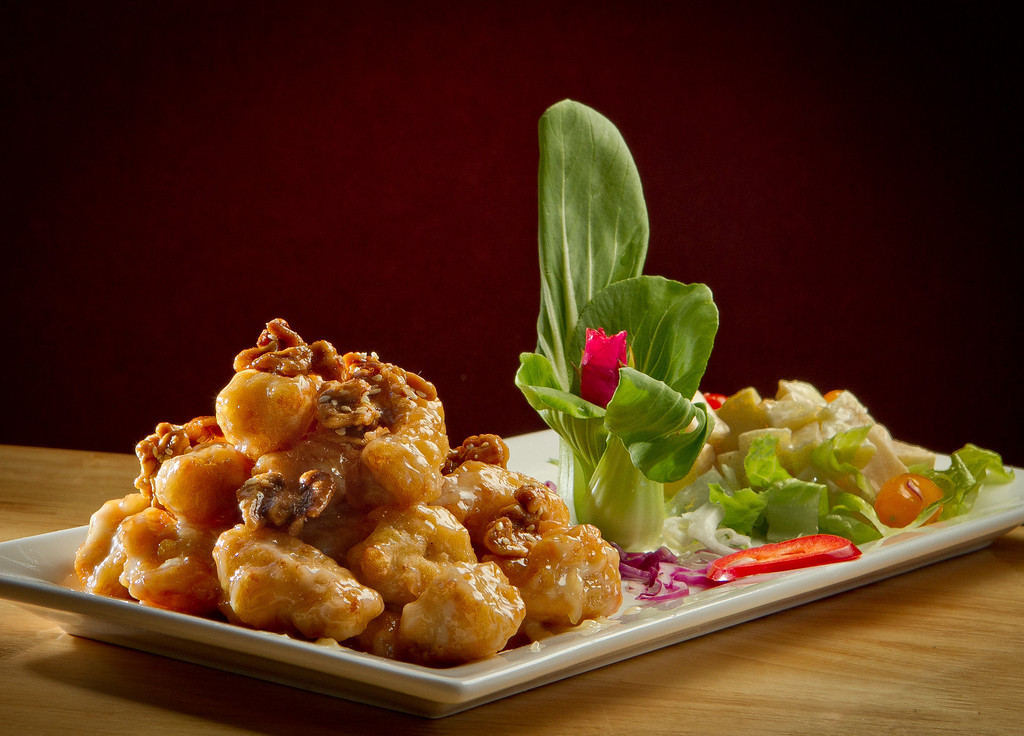 The Walnut Chicken at Lin Jia Restaurant in Oakland, Calif., is seen on Friday,  September 30th, 2011.