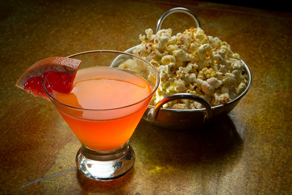 The High Merrit cocktail with the Habanero and Cilantro Popcorn at Make Westing bar in Oakland, Calif., is seen on Tuesday, November 29, 2011.