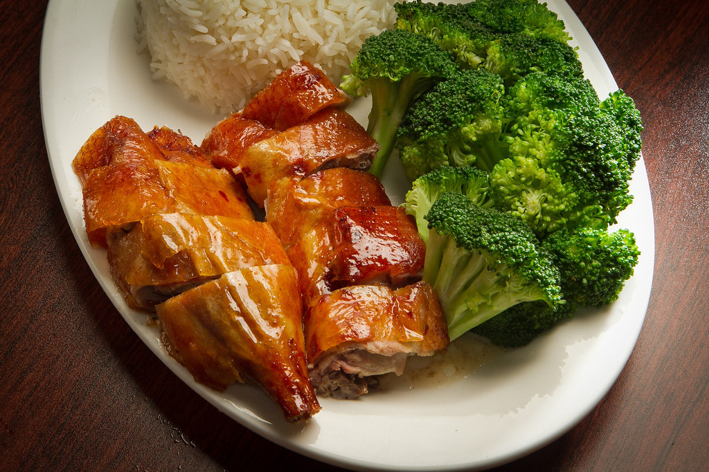 The Roasted Duck rice plate at Mama's Chicken Noodle restaurant in Alameda, Calif., is seen on Friday, September 23rd,  2011.