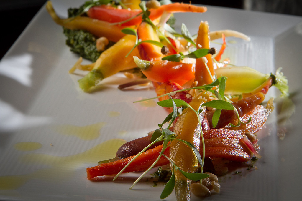 The Heirloom Baby Carrots at Park Tavern Restaurant in San Francisco, Calif., is seen on Sunday, October 23,  2011.