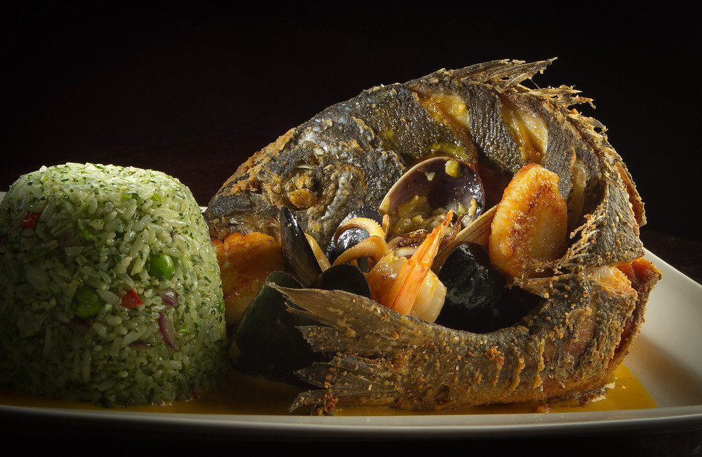 The crispy whole Dorade at Pasion Restaurant in San Francisco, Calif., is seen on Wednesday,  October 12, 2011.