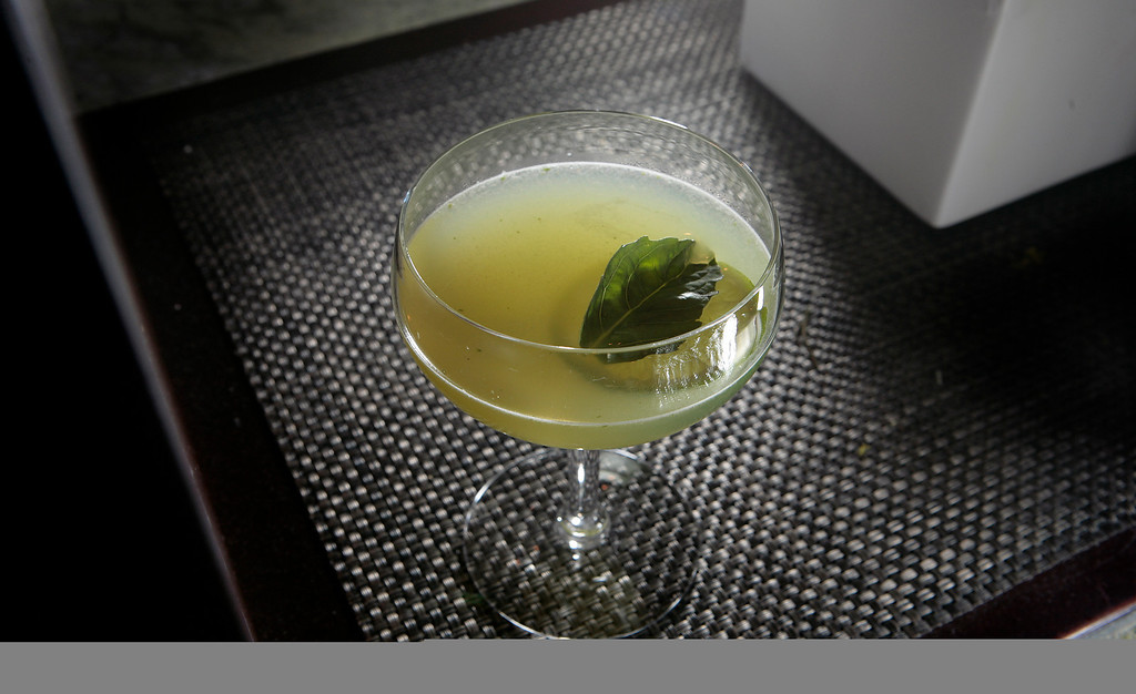 The Basil Gimlet at the restaurant Five in the Hotel Shattuck Plaza in Berkeley, Calif., is seen on Friday, October 1,  2010.