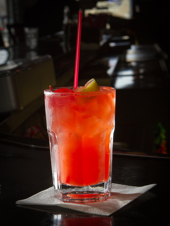 A Tequila Sunrise cocktail at Sam Jordan's Bar in San Francisco, Calif., is seen on Tuesday,  October 18, 2011.