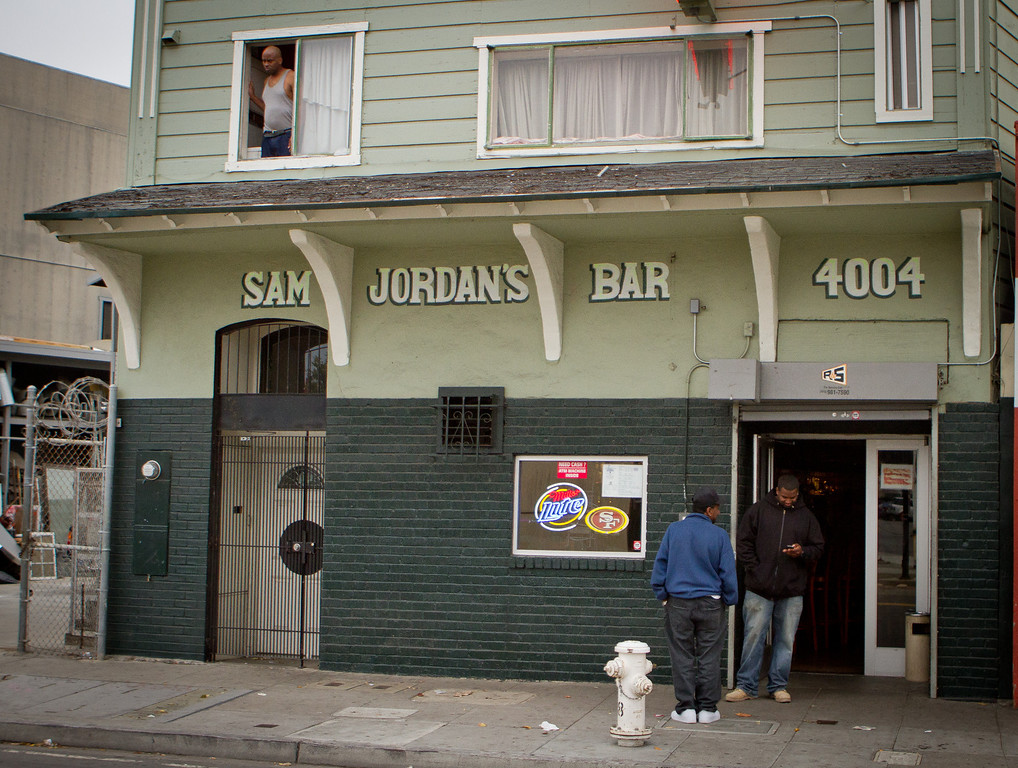 The exterior of Sam Jordan's Bar in San Francisco, Calif., is seen on Tuesday,  October 18, 2011.