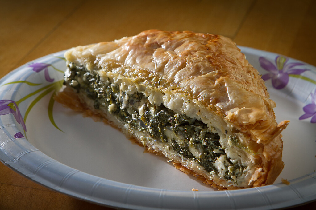The Spanokopita at Sausalito Gourmet Deli, Calif.,  is seen on Thursday, November 10,  2011.