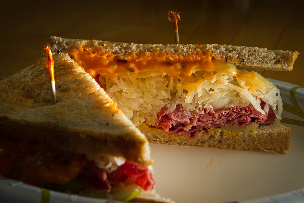 The New York Reuben at the Sausalito Gourmet Deli, Calif.,  is seen on Thursday, November 10,  2011.