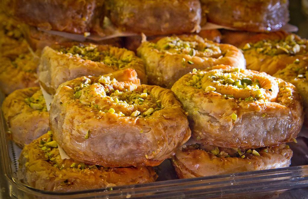 The Baklava at the Sausalito Gourmet Deli, Calif.,  is seen on Thursday, November 10,  2011.