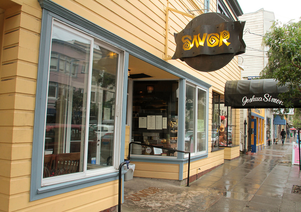 The exterior of Savor restaurant in San Francisco, Calif., is seen on Monday February 14th,  2011.