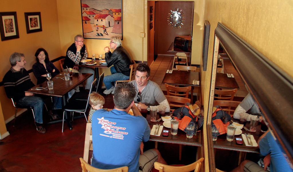 Diners enjoy lunch at Sazon restaurant in Santa Rosa, Calif., on Friday, January 14,  2011.