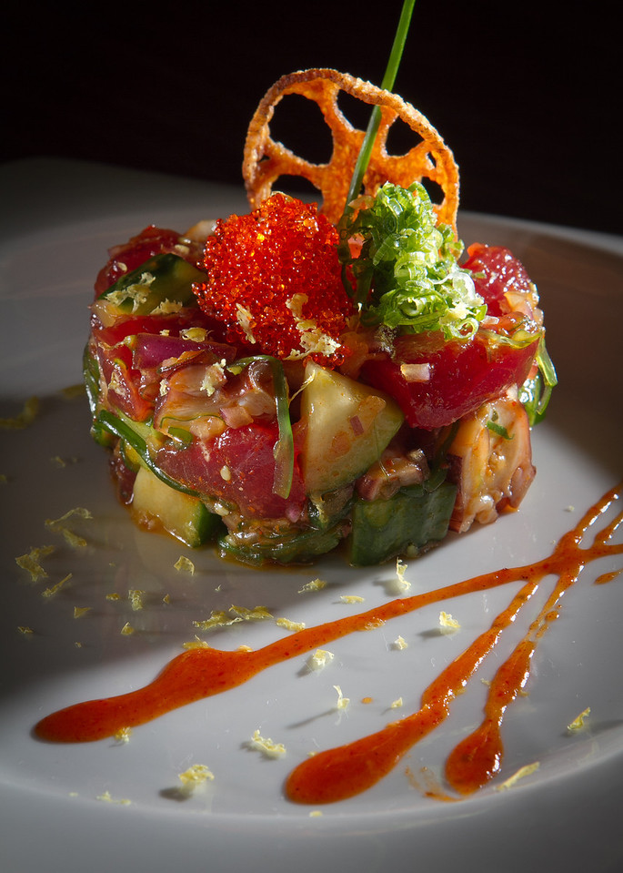 The Hawaiian Style Poke at Seiya Restaurant in San Carlos, Calif., is seen on September 22, 2011.