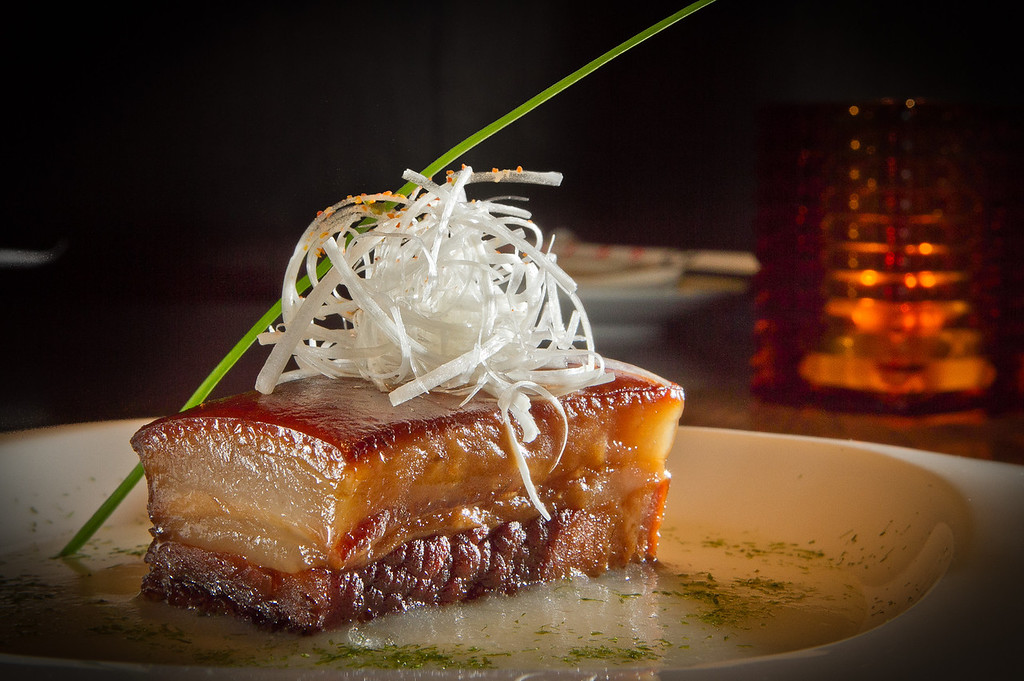 Buta Kakuni, stewed Pork Belly, at Seiya Restaurant in San Carlos, Calif., is seen on September 22, 2011.