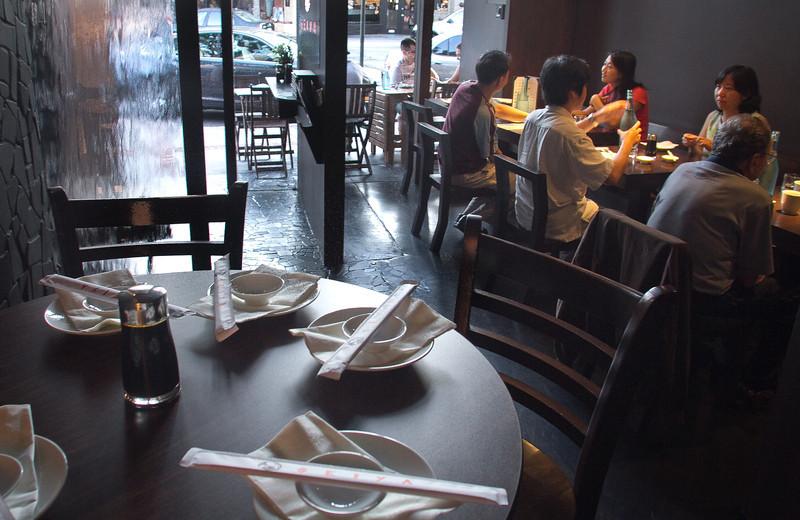 Diners enjoy dinner at Seiya Restaurant in San Carlos, Calif., on September 22, 2011.