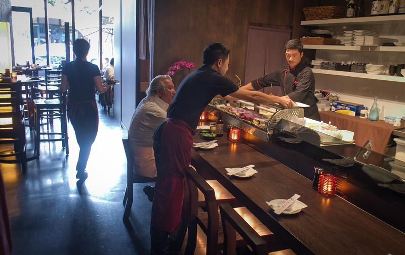 The Sushi Bar at Seiya Restaurant in San Carlos, Calif., is seen on September 22, 2011.