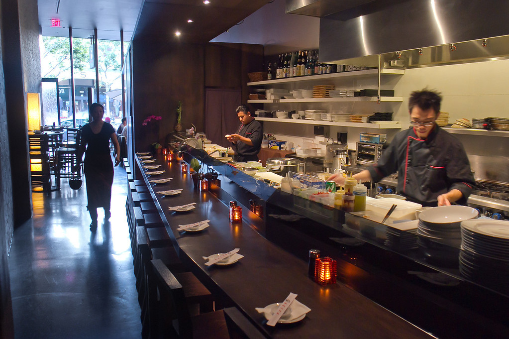 The Sushi Bar at Seiya Restaurant in San Carlos, Calif., is seen on September 22, 2011.