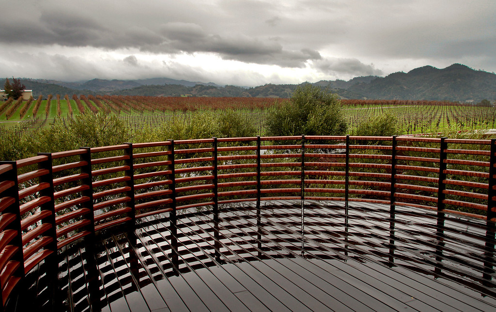 A view of Alexander Valley from the deck adjacent to the Stryker Sonoma winery tasting room in Geyserville , Calif., is seen on Sunday, Dec. 5, 2010.