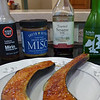 """<h1 style=""""text-align:center;"""">Nasu Dengaku</h1><h2 style=""""text-align:center;"""">(Japanese Eggplants Broiled with Miso)</h2><h3 style=""""text-align:center;"""">Shown with the 4 major ingredients needed for the sauce</h3> This is a fabulous recipe from Susan Voisin (Fat Free Vegan Blog).   It's a very simple dish where Japanese eggplants are broiled, spread with a sweetened miso mixture, and then broiled again for a few seconds. The results are creamy, smoky eggplant with a sweet and salty sauce that will makes you want to just lick the sauce off the eggplant and then go put some more on, to lick off again!!     <b><u><a href=""""http://blog.fatfreevegan.com/2007/06/nasu-degaku-japanese-eggplants-broiled.html"""">Recipe here</a></u></b>.  <b><u><a href=""""http://nc-hiker.smugmug.com/Food/Food-All-Recipes/30382827_PxxB5m#!i=2634111381&k=SBNR7JC&lb=1&s=A"""">Japanese Eggplants</a></u></b> are different from their more traditional cousins:  They are long and slender, as opposed to shorter and squater.  They are usually much less bitter since they have much fewer seeds, sometimes no seeds at all.  They grill or broil up in minutes as the recipe above shows."""