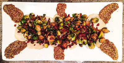 finished sprouts tapa with mustard