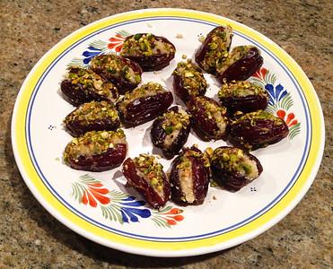 plate of stuffed dates