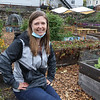 Lowell Farm to School manager Maggie Nowak, at the garden at Lincoln Elementary School. (SUN/Julia Malakie)