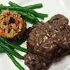 Beef Tenderloin with Mushroom & Olive Gorgonzola Sauce, Mediterranean Style Orzo, and fresh buttered Green Beans.
