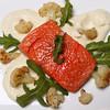 Salmon Confit with Cauliflower Puree & Cauliflower Florets