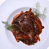 Pan Seared Lamb Chop with Fennel, Onion, Mushroom, & Tomato Ragout.