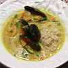 Thai Curry Soup with Mussels & Shrimp.