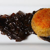 Thanksgiving Amuse Bouche: Duck Liver Croquet with Balsamic Caramelized Onions.