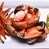 Stone Crab Claws & Key West Dipping Sauce (not shown) served with Spicy Sweet Potato Fries and a Brussels Sprout, Apple, Shallot, Jalapeno Slaw