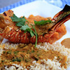 Grilled Spiny Lobster with Bahamian Curry Sauce, Mango Chutney & Brown Basmati Rice