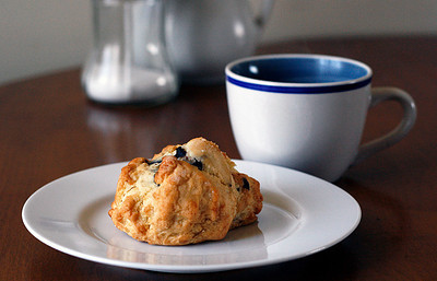 Blueberry Scone and Tea